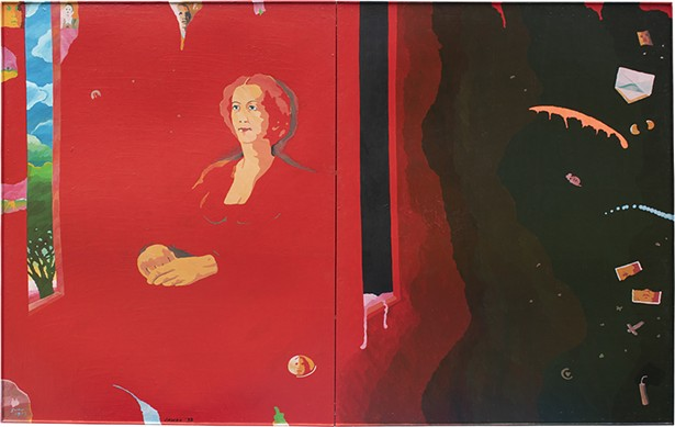 "Passing Away, acrylic and varnish on Masonite, 66"" x 96"", 1988. - PHOTO: CAMILLE MURPHY"