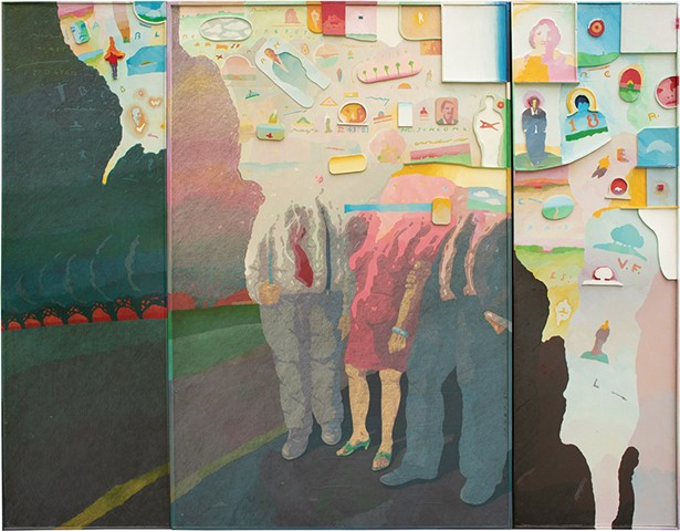 "Partial Recall, acrylic on Masonite, 67"" x 99"", 1997. - PHOTO: CAMILLE MURPHY"