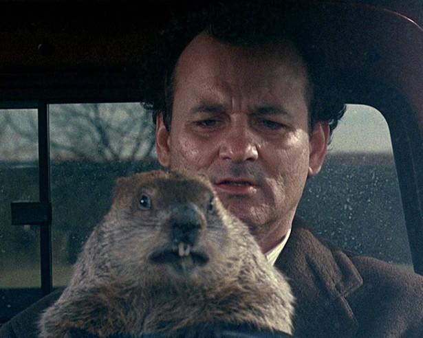 Bill Murray in Ground Hog Day.
