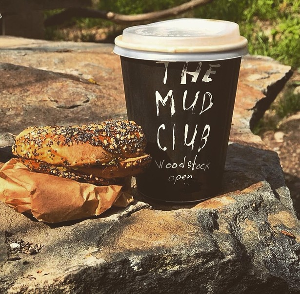 The Mud Club is a great place to go for bagels and coffee on a weekend morning.
