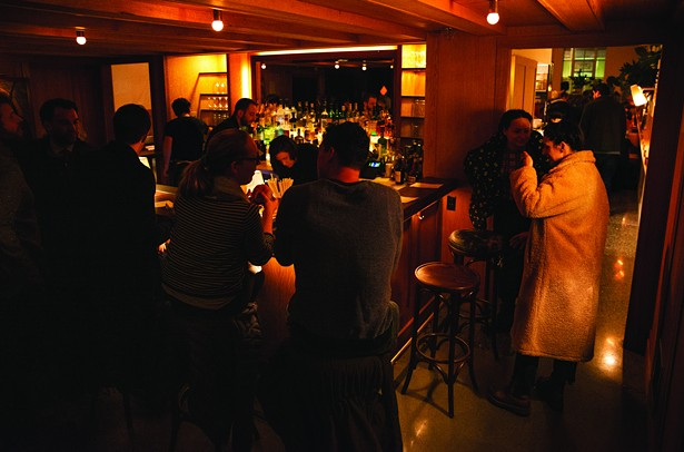 The bar at Hotel Kinsley in Uptown Kingston. - LINDSAY TALLEY