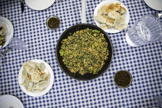 Recipe: Green Vegetable Fried Rice & Crescent Moon Dumplings