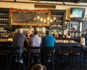 The bar at Underground Coffe & Ales in Highland pours 10 rotating taps as well as serving a wide selection of coffee drinks.