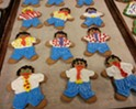 These gingerbread office workers are perfect for a staff holiday party.