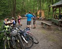 Hikers, bikers, and horseback riders stop by for pizza, dumplings, and salads at the Rail Trail Cafe on the stretch between Rosendale and New Paltz.