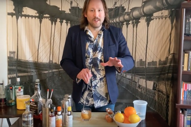 """Cocktails for the Quarantine"" with Edward Gibbons-Brown from Mama Roux"