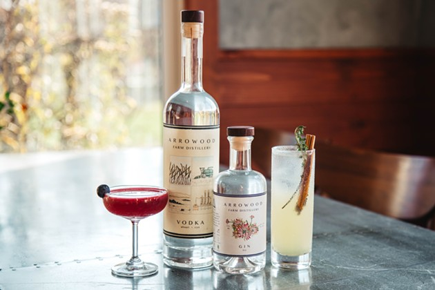 Ginned Up: Arrowood Launches its Onsite Kitchen & Farm Distillery