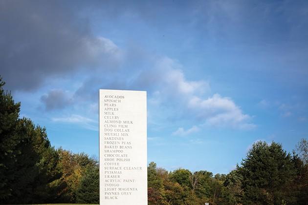 David Shrigley's Memorial at Art Omi