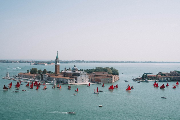 Red Regatta: Melissa McGill's Environmental Art in Venice, Italy