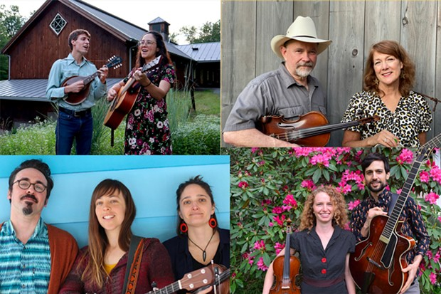 The Mapletones, Moonshine Holler, The Moonshells, and South Street Swing,
