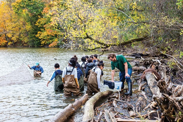 Using the Hudson River as a natural lab for learning, Clarkson's Beacon Institute connects local students to STEM activities.