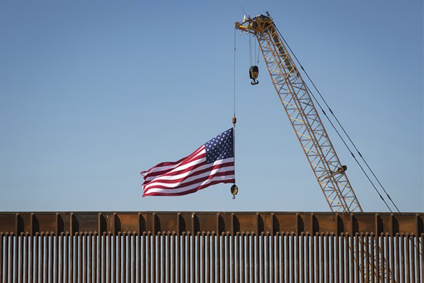 Recently constructed panels at the border wall near McAllen, Texas on October 30, 2020.