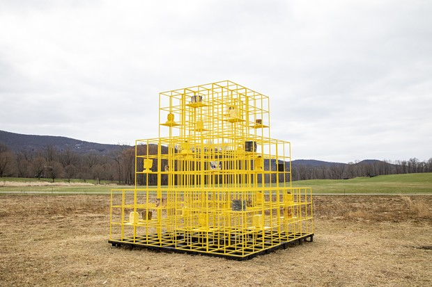 Rashid Johnson, The Crisis (2019). Courtesy of the artist and Hauser & Wirth. Photo: Stephanie Powell, courtesy of Storm King Art Center.