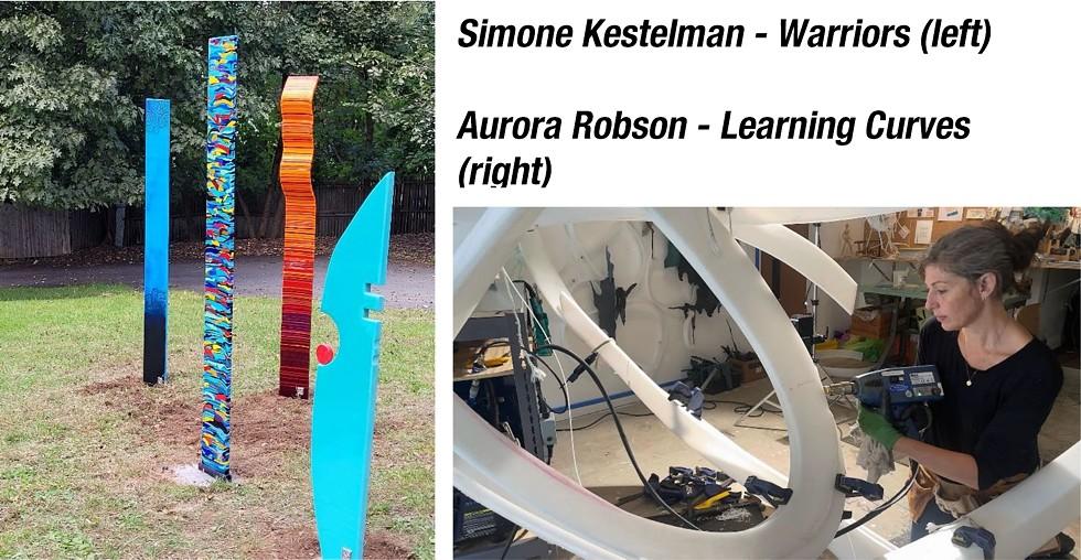 Simone Kestelman - Warriors & Aurora Robson - working on Learning Curves