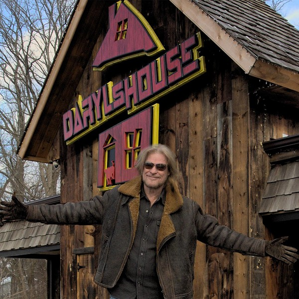 Daryl Hall standing in front of Daryl's House. The restaurant and live music venue has been selling 30 to 40 grocery packages a week. - DARYL'S HOUSE