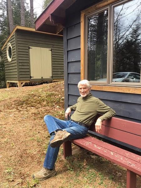 Glenn's Sheds owner, Glenn Nystrup, with the shed and studio he built - ALL IMAGES COURTESY GLENN'S SHEDS