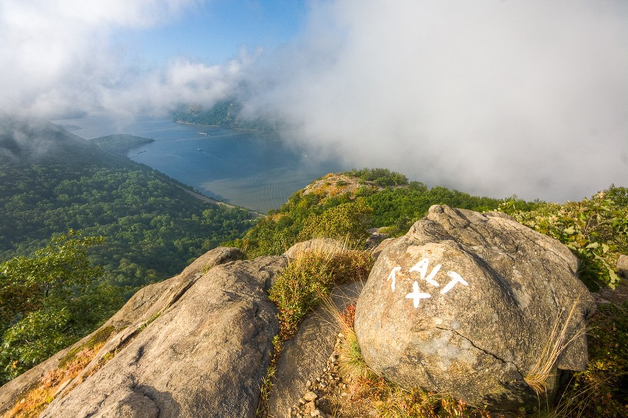 Breakneck Ridge, which lies between Beacon and Cold Spring, is a popular hiking spot for tourists and locals alike.