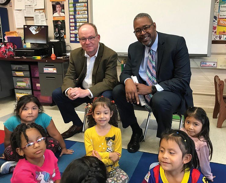Poughkeepsie Mayor Rob Rolison and Schools Superintendent Eric Rosser launched the Children's Cabinet to develop a shared vision for a cradle-to-career path for the city's children.