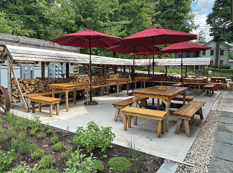 Roe Jan Brewing Co. in Hillsdale created an expanded outdoor dining area to boost their total number of seats within the COVID restrictions.