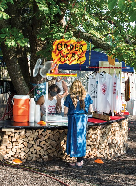 Lil Debs Oasis's pop-up behind Rivertown Lodge. Lil Debs Oasis donates 69 cents from every to promote racial justice. - PHOTO BY ANGELINA DREEM
