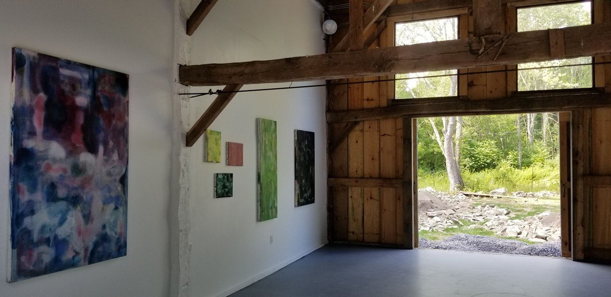 The center of the barn is a multi-purpose gallery and performance space