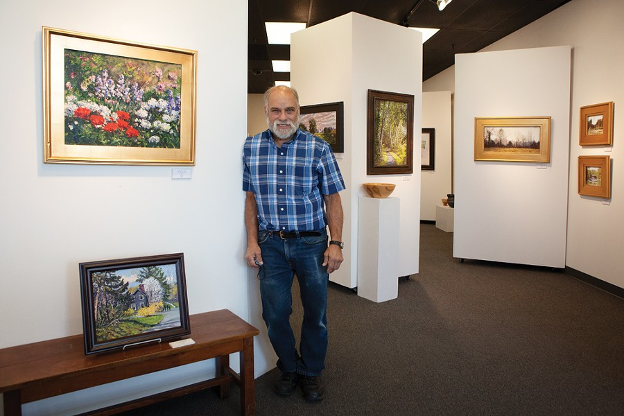 Mark Gruber opened his New Paltz frame shop and gallery in 1976. Gruber's careful curationn of Hudson Valley landscape artists has nurtured generations of painters.