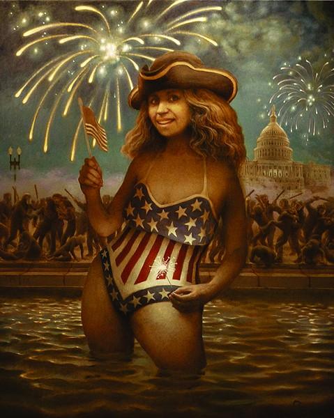 "Oil on canvas, 50"" x 40"" - RICHARD PANTELL"