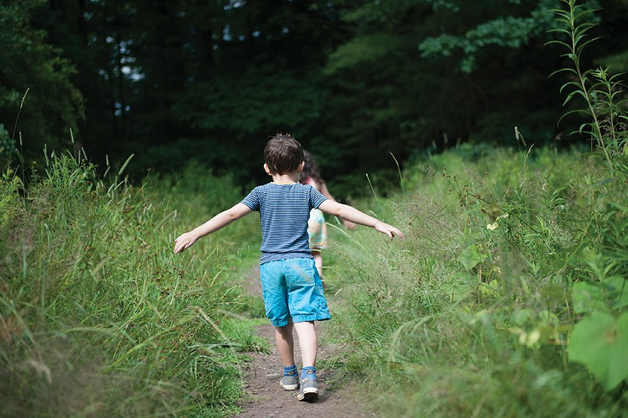Children enjoy walking in nature. - HILLARY HARVEY