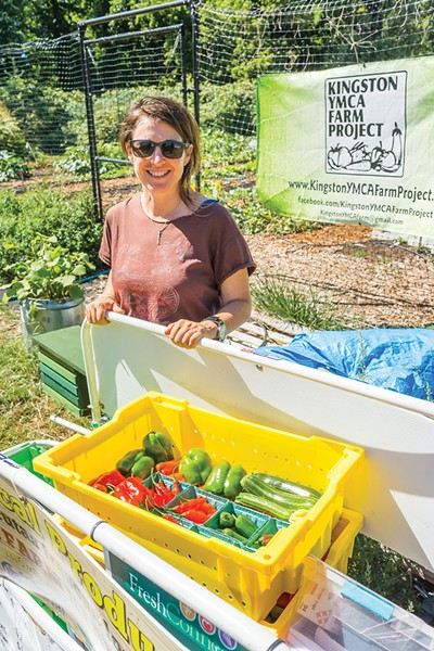 Kay Cee Wimbush at YMCA Farm Project - FRANCO VOGT