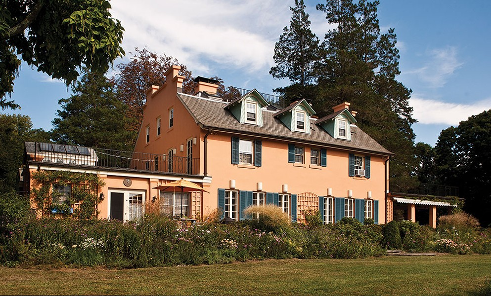 Designed by architect William A. Boring, who also designed the Ellis Island Immigrant Station, the 4,500-square-foot home sits on 15 acres of fields and woods gently sloping toward the Hudson. - DEBORAH DEGRAFFENREID