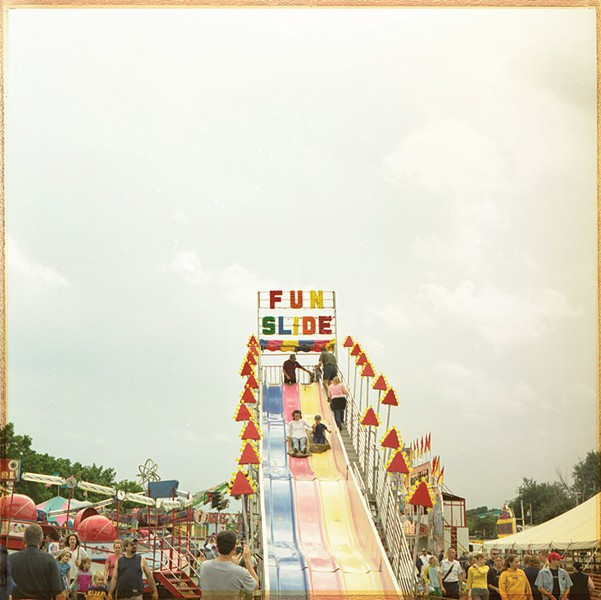 Fun Slide, cross-process photograph, 2013 - LONNY KALFUS