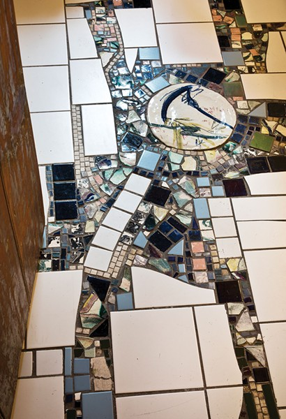 A ceramicist as well as a painter, Shaftan Perrin created a collection of tiles for the downstairs bathroom. - DEBORAH DEGRAFFENREID