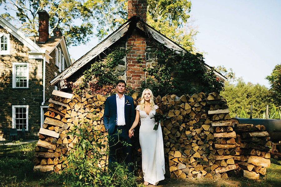 Reid and Jess at Hasbrouck House in Stone Ridge.