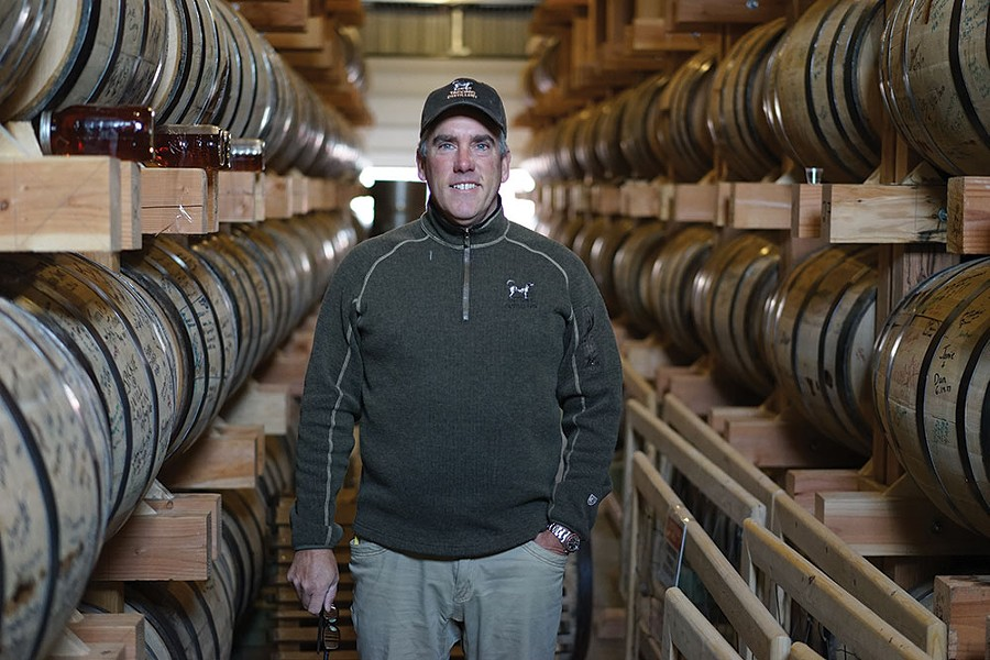 Taconic Distillery Founder Paul Coughlin in Stanfordville. - JOHN GARAY