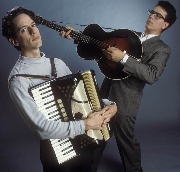 They Might Be Giants,left to right: John Linnell and John Flansburgh