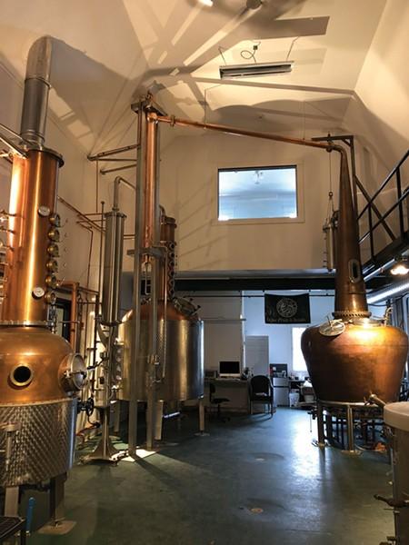 The stills at Stoutridge Vineyard & Distillery in Marlboro.