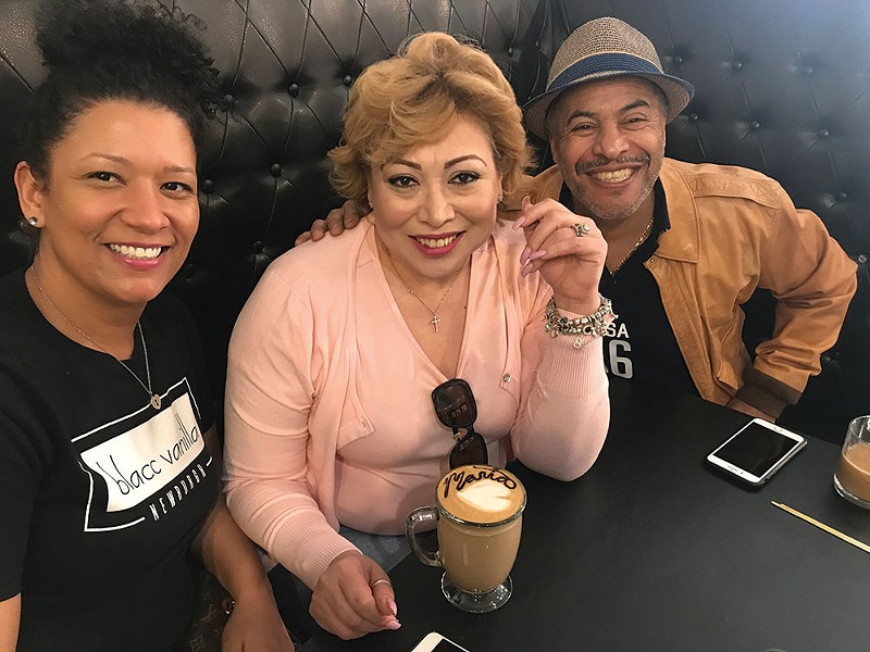 Katie Collins with Maria and Julio Rostran at Blacc Vanilla in Newburgh.