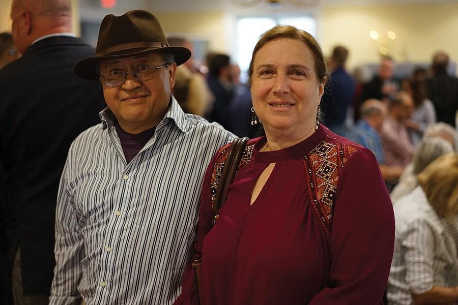 Alberto Flores and Carole Amper of Toucan Hats. - JOHN GARAY