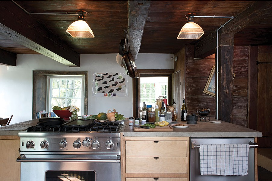 Zeller enlarged the downstairs kitchen by removing walls and then added stainless steel appliances and an island. Although she spent many years in the fashion industry, cooking has always been a passion. - DEBORAH DEGRAFFENREID