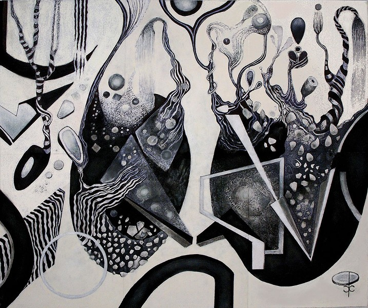 Carol Pepper Cooper's ink and pastel work Phantasmantics;