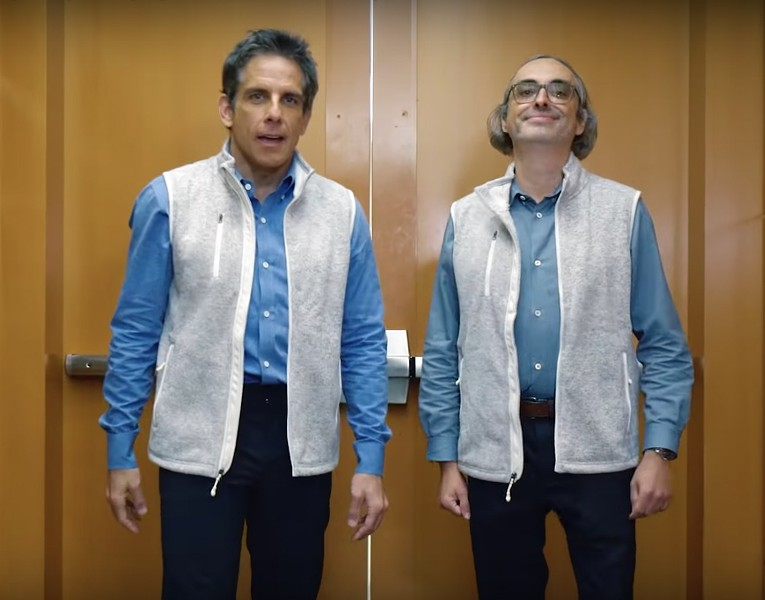 "Ben Stiller and Gary Shytengart in the trailer for ""Lake Success."""