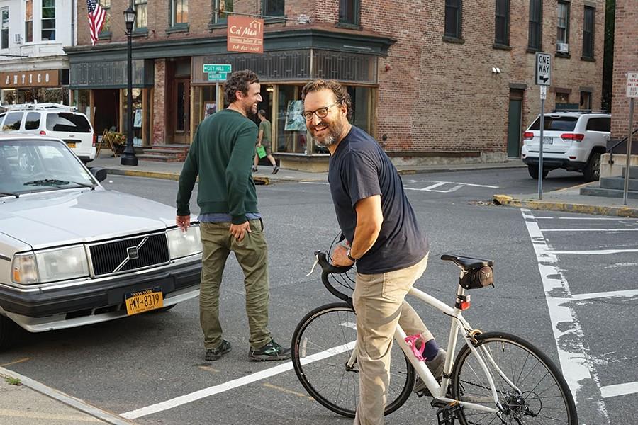 David Marston and Peter Spear on Warren Street in Hudson - JOHN GARAY
