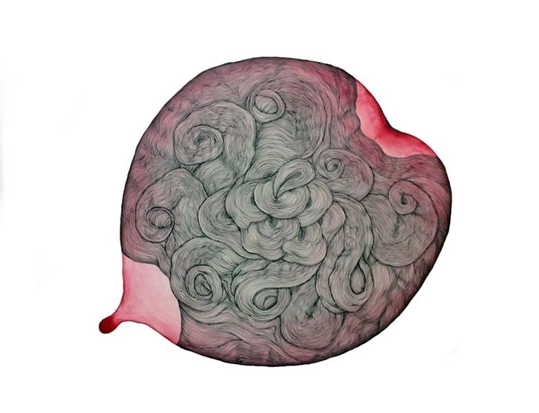 Sky Kim, Untitled, Pen, Ink, Pencil on Paper, 18x24