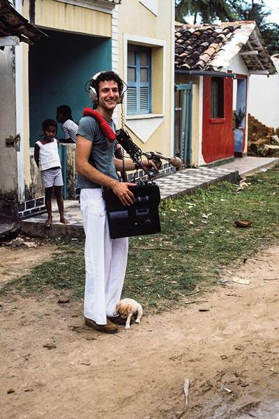 Jim Metzner field recording in Bahia, Brazil in 1975.