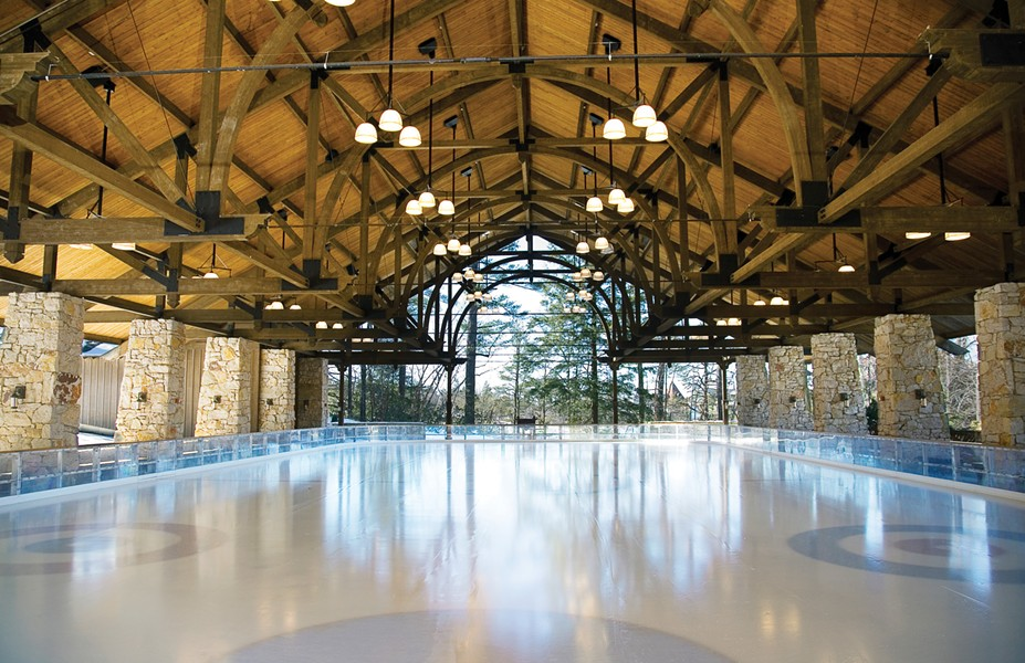 The ice rink at Mohonk Mountain House