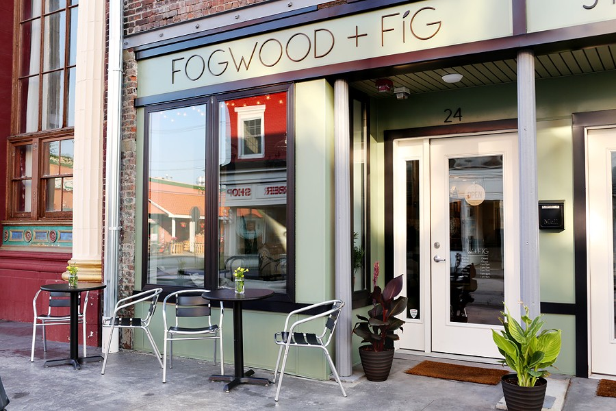 Fogwood & Fig's cute location on Main Street in Port Jervis