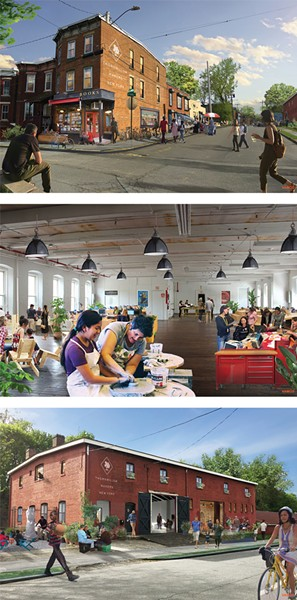Artist renderings of Thornwillow Makers Village