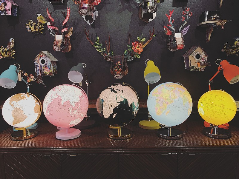 Globe display at Exit 19.