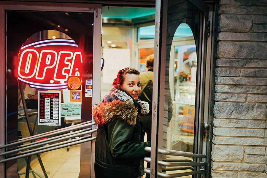 Alecia Eberhardt-Smith at Broadway Diner in Kingston. - PHOTO: TOM EBERHARDT-SMITH