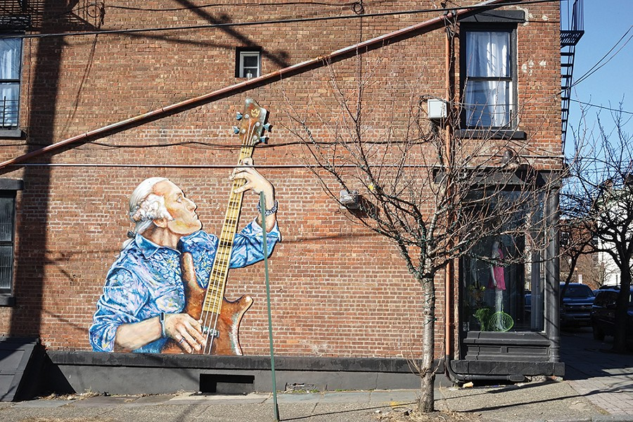Street art by Will Teran on the corner of Washington and Liberty, across from Washington's Headquarters. - PHOTO: JOHN GARAY